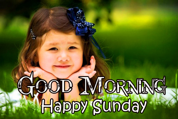 Good Morning Happy Sunday Cute Girl Picture