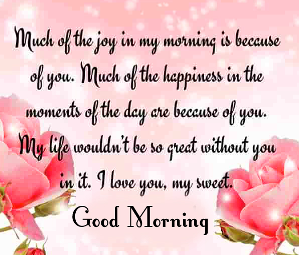 Good Morning Quote Floral Wallpaper