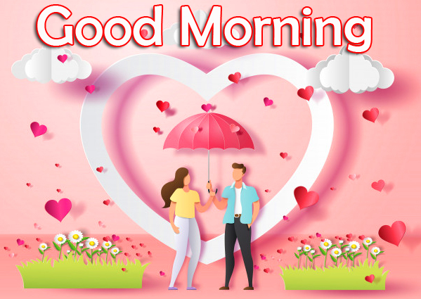 Good Morning Romantic Cute Couple Picture