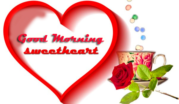 Good Morning Sweetheart Heart Picture