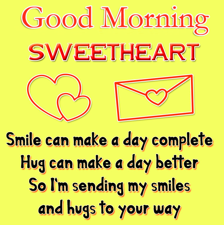 Good Morning Sweetheart Message Picture