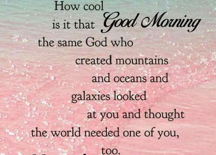 Good Morning with Beautiful Quote Image