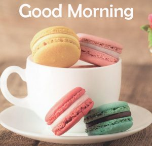 Good Morning with Coffee and Macarons Pic