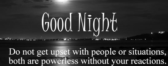 Good Night Blessing Quote in English