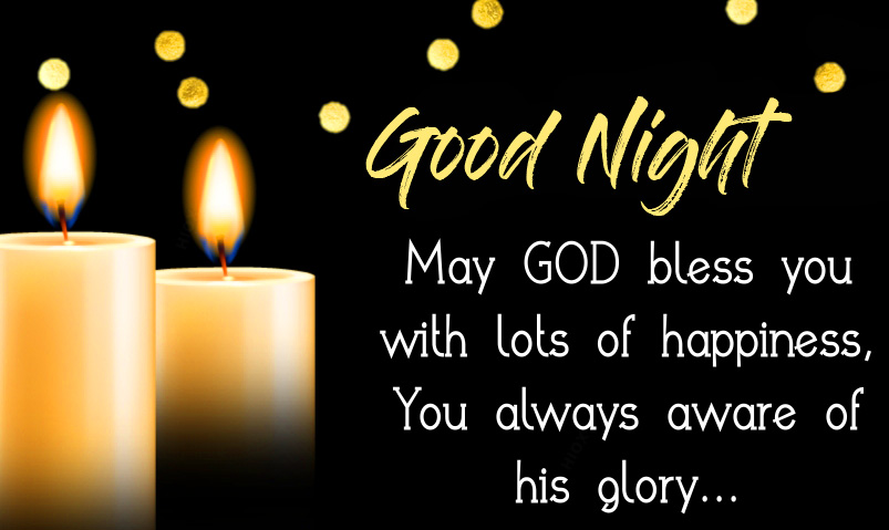Good Night God Blessing Quote Wallpaper
