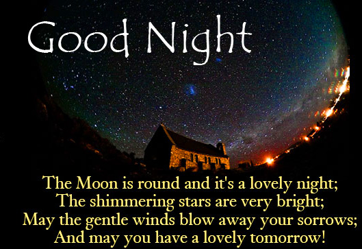 Good Night Lovely Blessing Message Photo