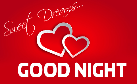 Good Night Sweet Dream Red Heart Picture HD