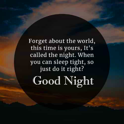 Good Night Wish with Blessing Message Image