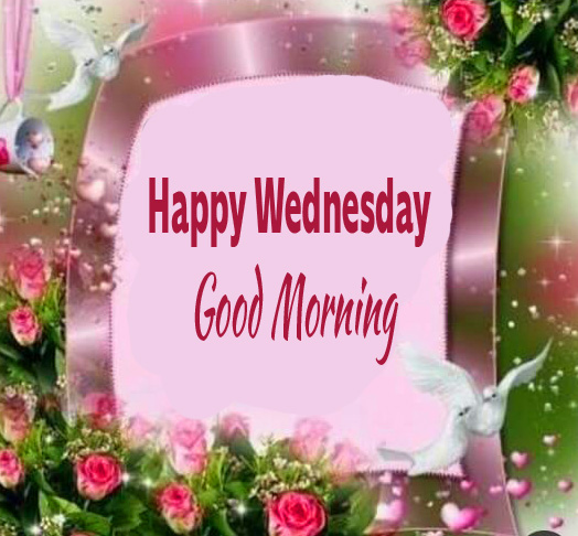Happy Wednesday Good Morning Blessing Card Wallpaper