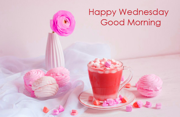 Happy Wednesday Good Morning Pink Wallpaper