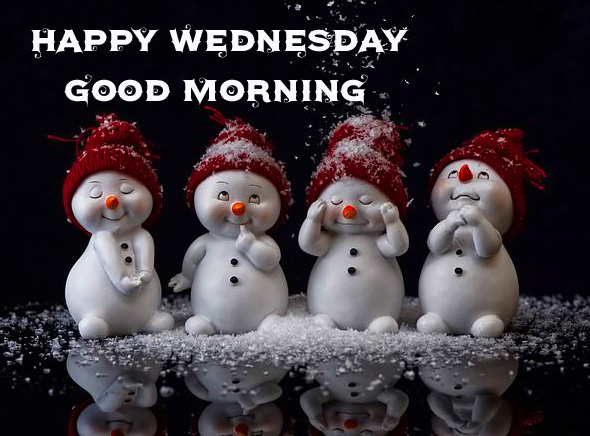 Happy Wednesday Good Morning Snowman Picture
