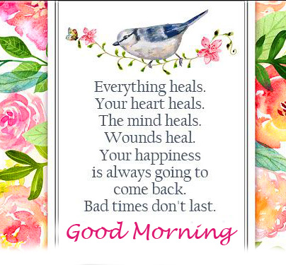 Healing Lovely Quote Good Morning Image