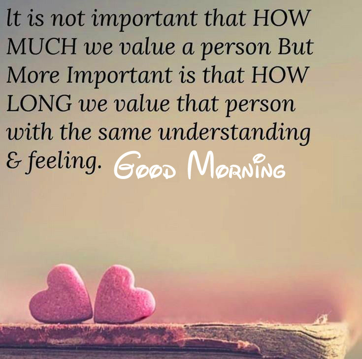 Heart Good Morning Quote Wallpaper