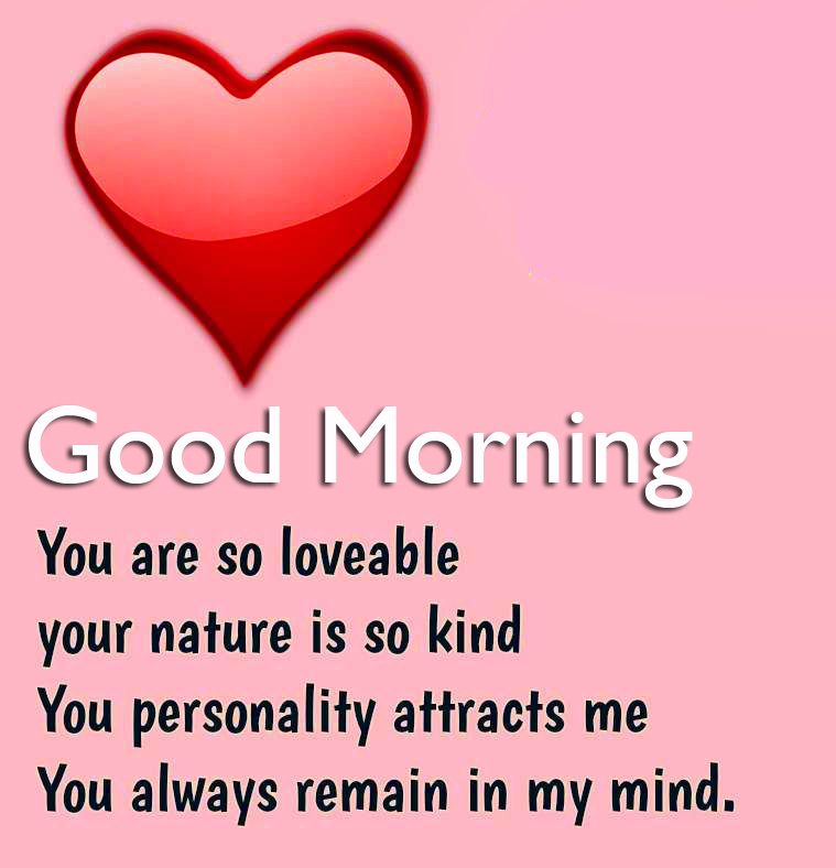 Heart with Good Morning Love Message