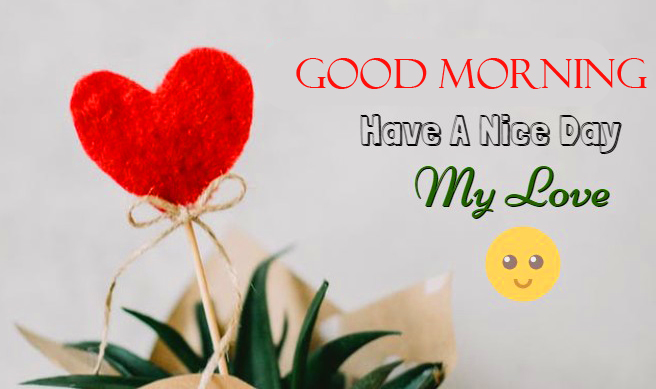 Heart with Good Morning Message Picture