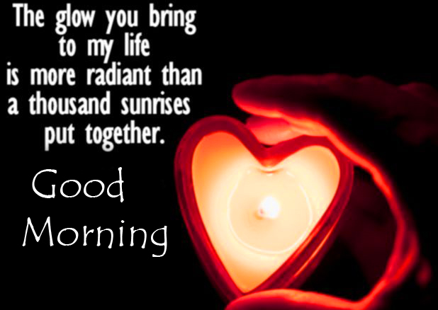 Heart with Quote and Good Morning Wish