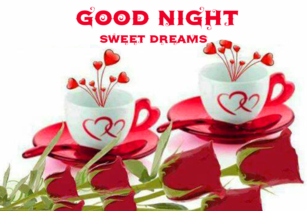 Hearts Cup Good Night Sweet Dream Pic