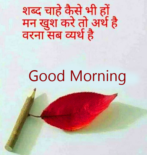 Hindi Quotes Good Morning Picture