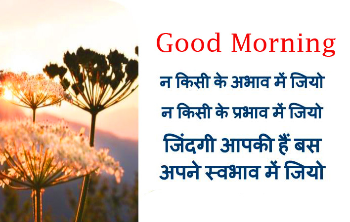 Hindi Suvichar Good Morning Image