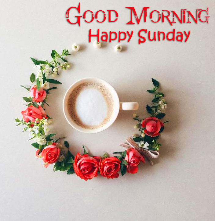 Latest Coffee and Flowers Good Morning Happy Sunday Wallpaper