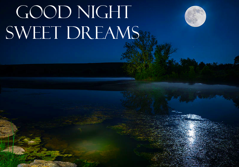 Latest Moon and River Good Night Sweet Dreams Image