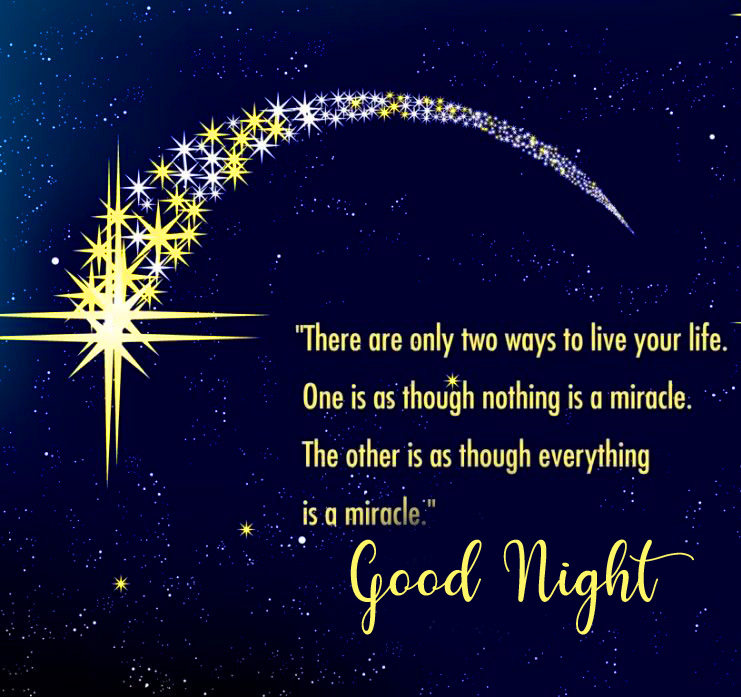 Latest Quote with Good Night Wish