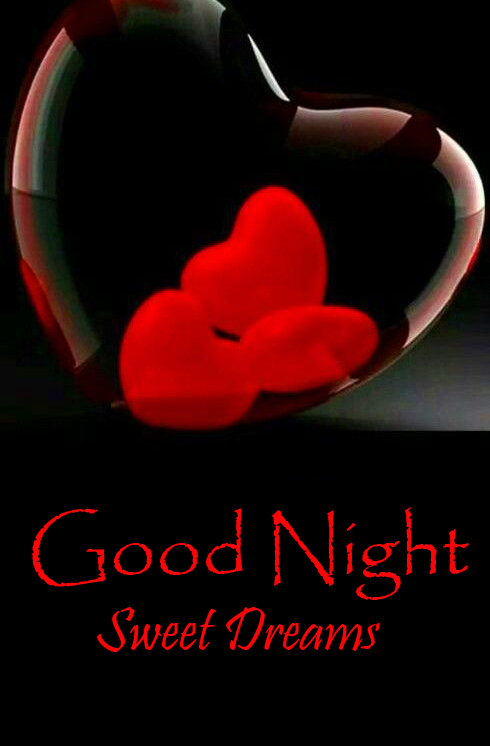 Latest Red Heart Good Night Sweet Dream Pic