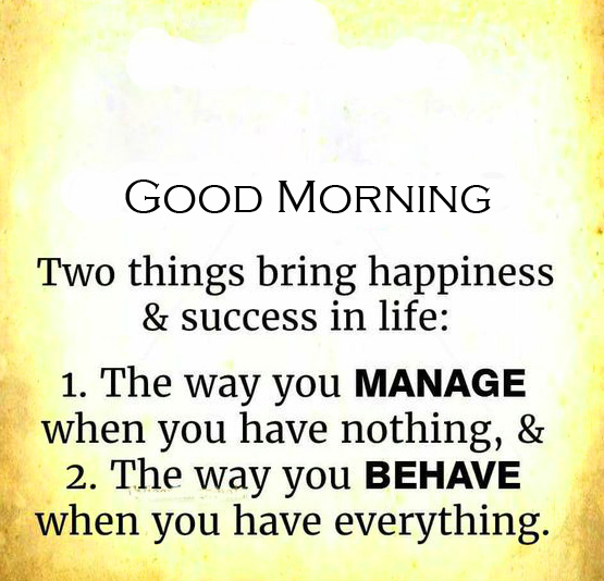 Latest Success Quote Good Morning Image