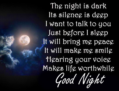 Latest and Best Good Night Blessing Message Wallpaper