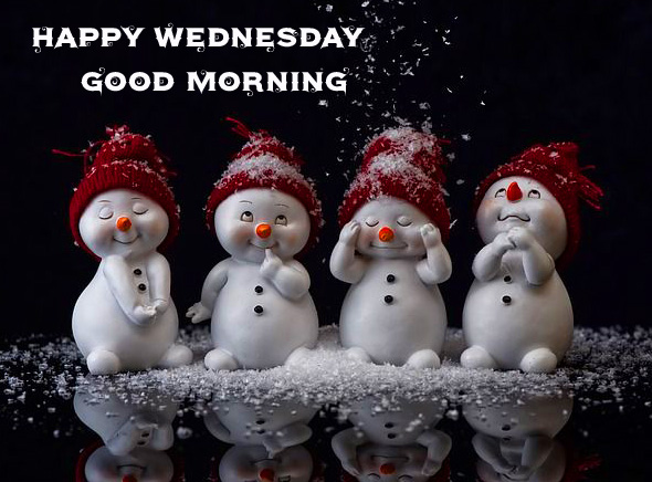 Latest and Cute Snowmen Happy Wednesday Good Morning Picture