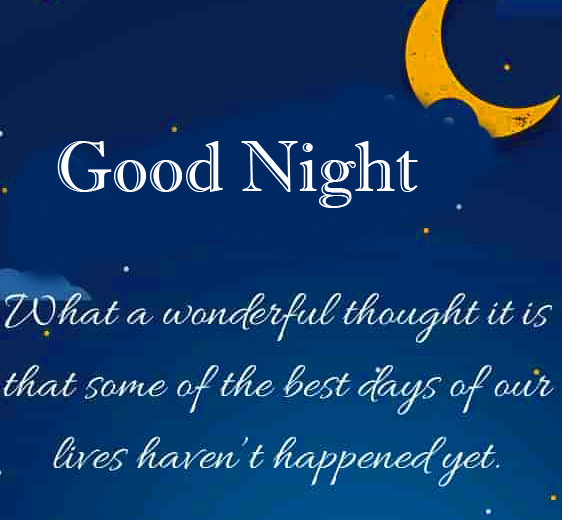 Latest and Lovely Blessing Good Night Quote Photo