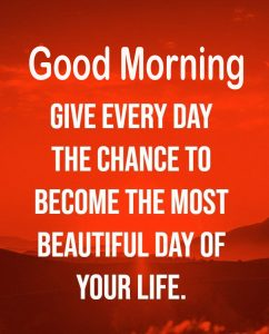 Life Beautiful Quote Good Morning Image
