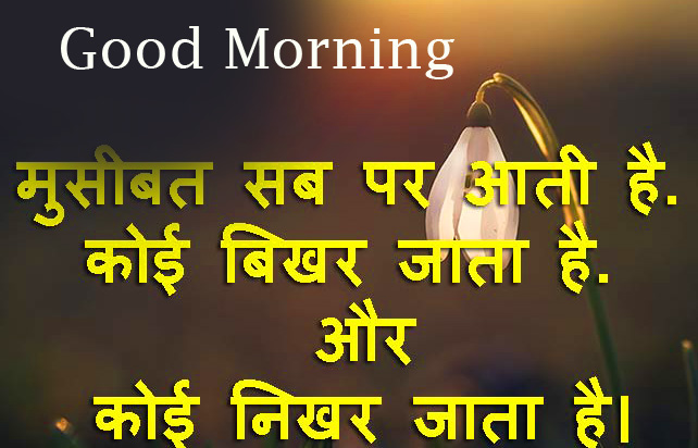 Life Hindi Quote Good Morning Image