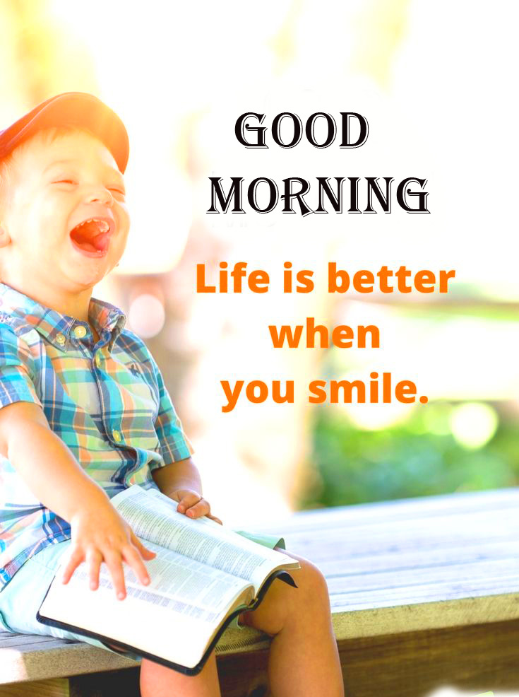 Life and Smile Beautiful Quote Good Morning Image