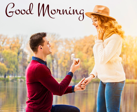 Love Proposal Couple Good Morning Picture