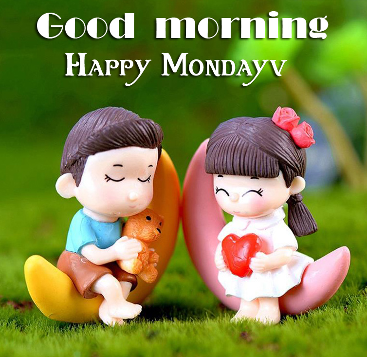 Mini Cute Couple Good Morning Happy Monday Image