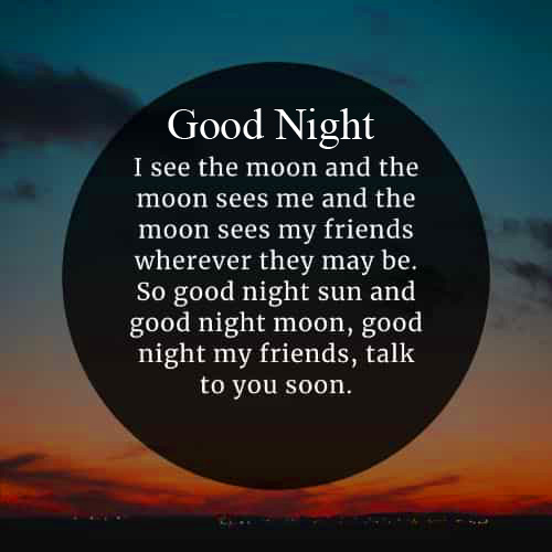 Moon and Stars Blessing Quote Good Night Wallpaper