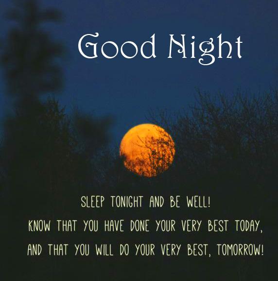 Moon with Quote and Good Night Wish
