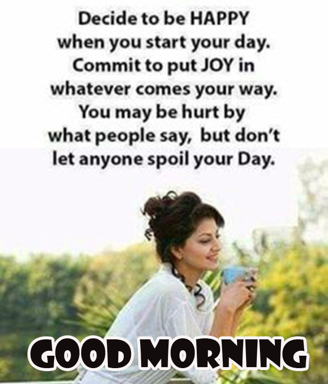 Nice Quote Good Morning Image