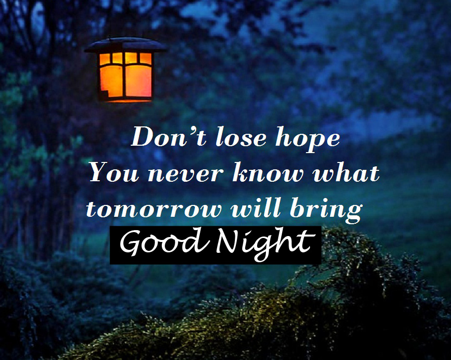 Night Lamp with Quote and Good Night Wish