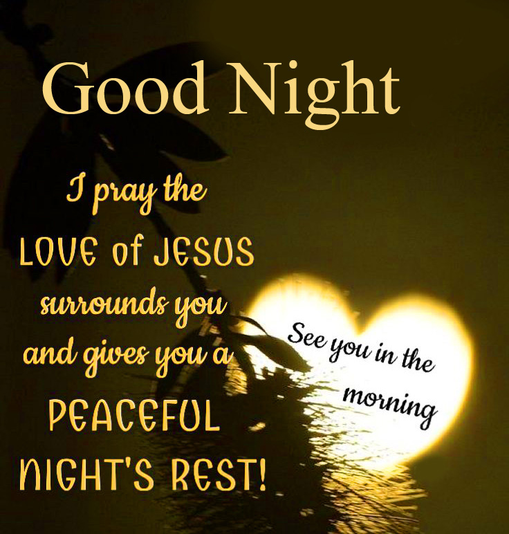 Peaceful Blessing Quote Good Night Image