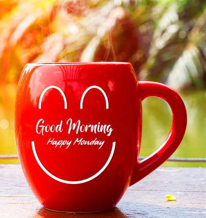 Red Coffee Cup Good Morning Happy Monday Picture