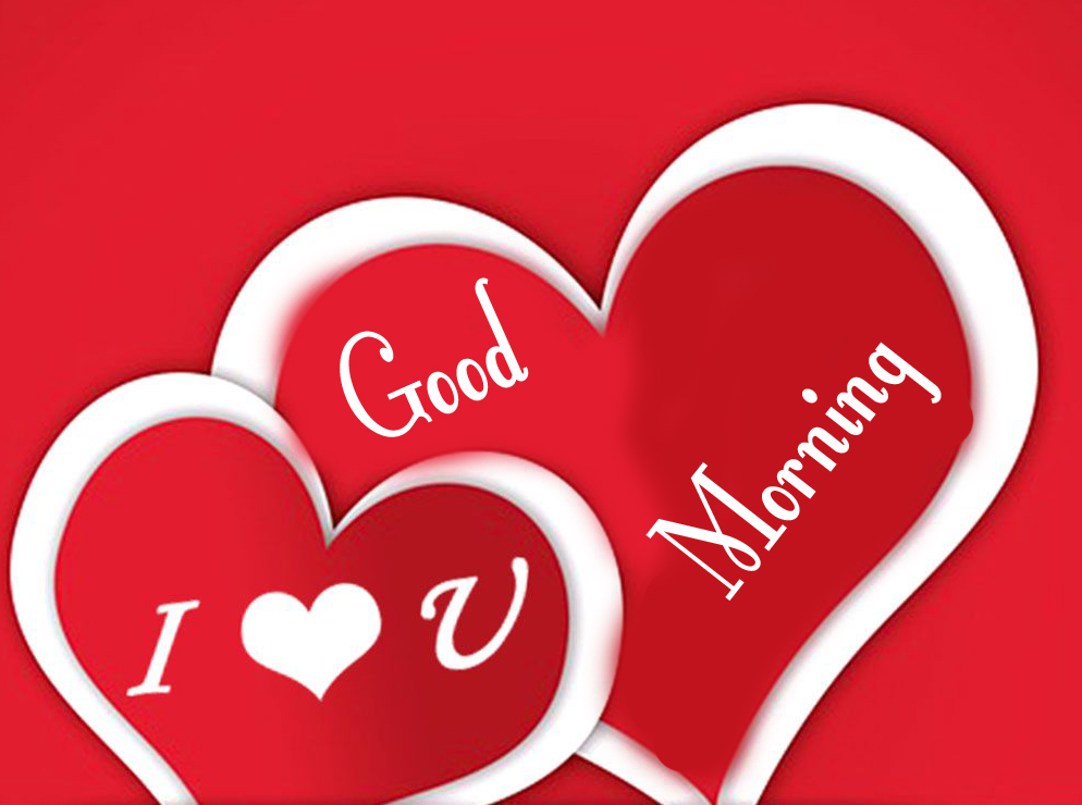 Red Hearts with Good Morning Wish