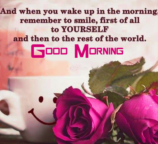 Roses with Quote and Good Morning Wish