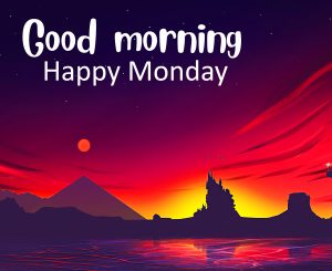Sunrise Animated Good Morning Happy Monday Wallpaper