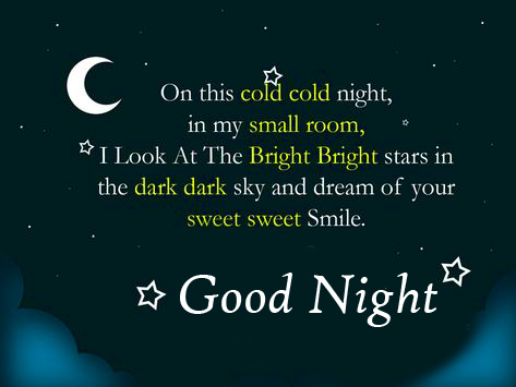 Sweet Blessing Good Night Quote Picture