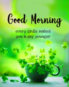 Younger Smile Good Morning Quote Pic