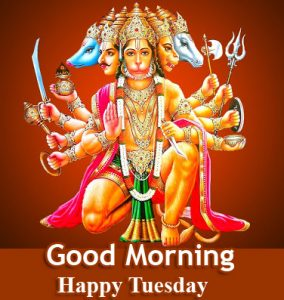 Bajrangbali Good Morning Happy Tuesday Image