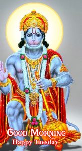 Best Hanuman Ji Good Morning Happy Tuesday Picture
