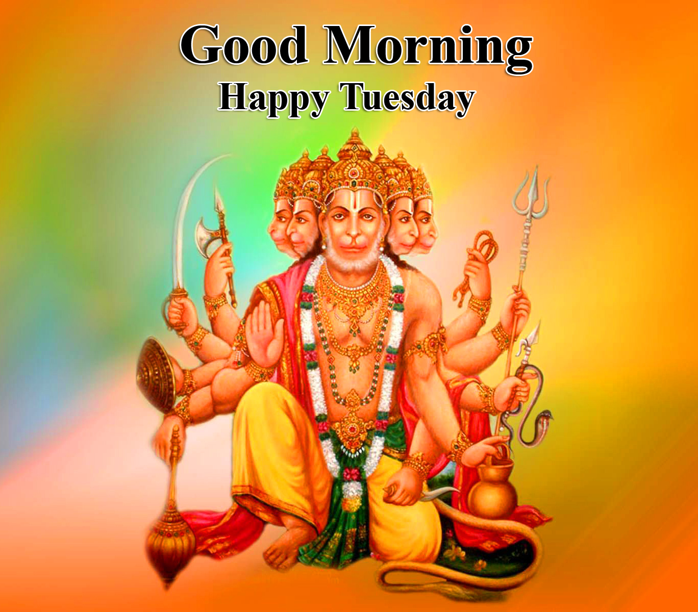 Best and Latest Hanuman Ji Good Morning Happy Tuesday Image